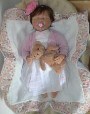Vrai bébé reborn Juliana poupée réaliste full vinyle silicone 52 cm + trousseau
