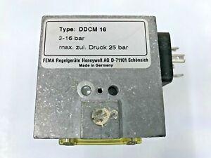 FEMA Honeywell DDCM16  Stainless Steel Differential Pressure Switch 3...16 bar