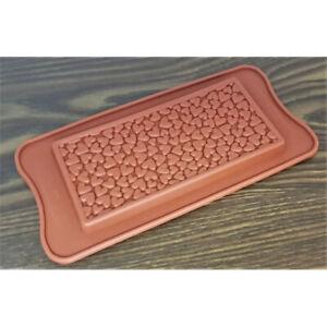 1 x Pralinenform Silikon  Schokolade Fontant  Muffin Backen Deko Tafel  NEU Herz