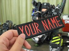 Custom Ghostbusters NAME TAG,Personalised Embroidered PATCH/Iron on/Sew on/ 12cm