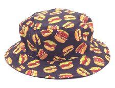 $95 BLOCK HEADWEAR MEN BURGER CAP REVERSIBLE WARM WINTER BRIM BUCKET HAT M/L