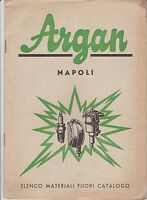 ARGAN  -  NAPOLI - ELENCO MATERIALI FUORI CATALOGO - 1958
