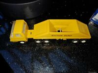 Vintage Tonka Toys Metal Truck semi cab Bottom Dump trailer set original 1960's