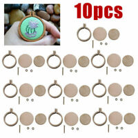 10 Sets Mini Embroidery Hoop Ring Wooden Cross Stitch Frame For Hand Crafts DIY