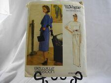 Very Easy Vogue Bellville Sassoon Designer Original Pattern 8,10,12,14,16 Dress