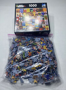 White Mountain Vintage Best Sellers Book Titles 1000 Piece Puzzle 100% Complete