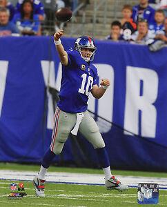 ELI MANNING – NEW YORK GIANTS QB - NFL LICENSED 8x10 ACTION PHOTO