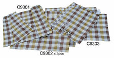 Westfalia Curtain Set VW Baywindow Yellow White + Brown Check as original C9237
