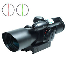 2.5-10x40 Tactical Rifle Scope Green Laser Dual illuminated Mil-dot Rail Mount