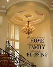 HOME FAMILY BLESSING WALL QUOTE DECAL VINYL WORDS Home Wall Decal