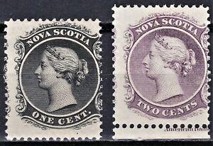 Nova Scotia 1860-63 Scott 8-9, MNH