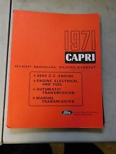Nos 1971 Mercury Capri Engine Electrical And Transmission Shop Service Manual