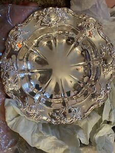 Towle Old Master Embossed Silverplate Centerpiece Bowl 11 Inch
