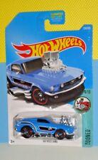 2017 HOT WHEELS TOONED #124 '68 Mustang - Blue