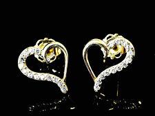 333 Gold Ohrstecker Herzen 1 Paar  9,5 mm  mit Zirkonia Steinen