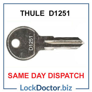 Thule Remover Key D1251 (Removes Thule Roof Box Lock Barrels) SAME DAY DISPATCH