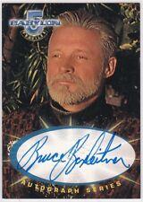 Babylon 5 Profiles Sa1 Bruce Boxleitner As John Sheridan Autograph