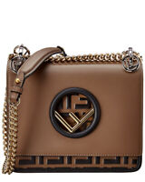 Fendi Kan I F Small Leather Shoulder Bag Women's  Small