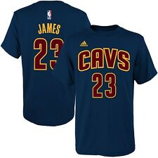 LeBron James Cleveland Cavaliers Navy Kids Name & Number Shirt Size 5/6