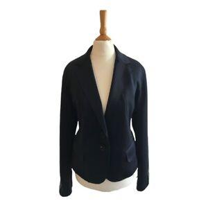 New Blonde No8 Women's Designer Black Leon Short Stripe Black Blazer 14 RRP £200