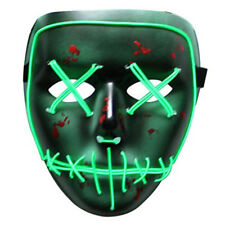 Frightening EL Wire Halloween Cosplay LED Mask Light Up Mask for Festival Party