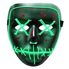 Aterrador el Cable luz LED Máscara de Halloween Cosplay Máscara para Festival Fiesta