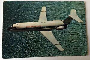 British United Airlines vintage postcard, 1966