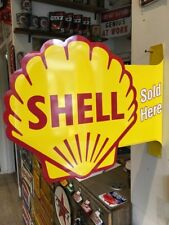 Shell Repro Double Sided Flanged Sign