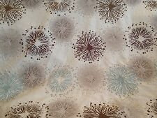 Retro Floral Dandelion Clock Tapestry Weave Fabric With Raised Chenille, 5m