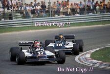 Eliseo Salazar & Derek Daly marzo 811 San Marino Grand Prix 1981 fotografía