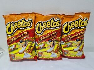 3 x Cheetos Crunchy Flamin Hot Large 8oz/226g Bags American Import Cheese Snack