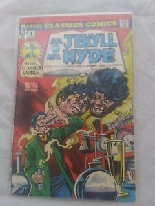 MARVEL CLASSICS COMICS #1 DR. JEKYLL AND MR. HYDE (1976) STEVENSON NICE FN VF