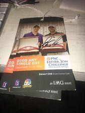 Stewart Cink Winner Signed 2014 Father Son Golf Tournament Ticket