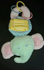 "Eden Plush Elephant Mirror Pastels Stroller Baby Lovey 11"" Hanging Crib Toy"