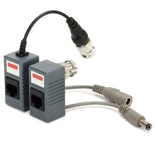 2 Ricetrasmettitori Video 1 Coppia Balun RJ45 TO BNC + Power Dvr VIDEO BALUN BNC