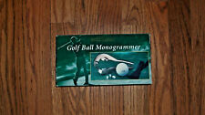 Golf Ball Monogrammer Perfect Solutions New Old Stock Platinum Look Finish