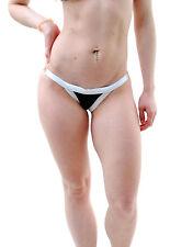 Wildfox Women's  Couture Double Bandage Knit Contrast Bikini Bottom Black BCF65