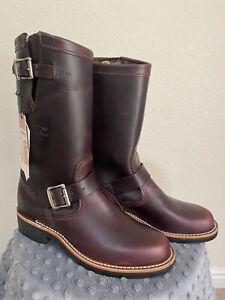 New In Box Chippewa Women's 6.5 Raynard 11 Inch Cordovan Engineer Boot 1901W16