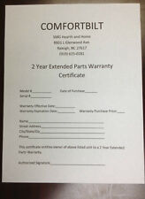 Extended 2 Year Parts Warranty for Comfortbilt Pellet Stoves/Fireplaces @ $159 !
