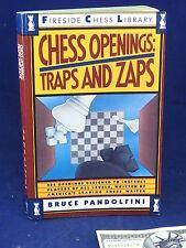 CHESS OPENINGS Traps & Zaps Bruce Pandolfini Book Fireside Chess Library