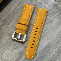 Genuine Orange Leather Watch Strap Band For Breitling Watches 22mm 24mm Lug