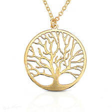 Gold Filled 14k Necklace Tree of Life Pendant Round Charm & Chain Warranty New