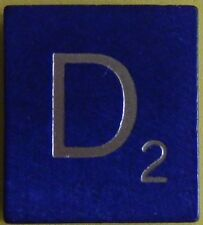 Scrabble Tiles Replacement Letter D Blue Wooden Craft Game Part Piece 50th Ann.