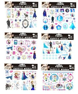 FROZEN Tattoo Sheets Childrens Birthday Party Gift Bag Filler Kids Loot Present
