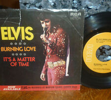 """*<*  ELVIS 1972 1st pressing #2 HIT """"BURNING LOVE"""" CLEAN VG+ 45 w/PICTURE SLEEVE"""