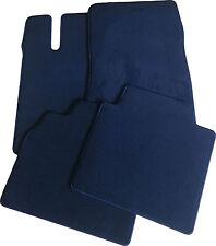 Für Opel Admiral B Fußmattensatz 4-teilig in Velours Deluxe dunkelblau
