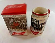 NEW Budweiser 2017 Holiday Stein Christmas Beer Mug from Annual Series w/ COA