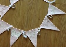 LAURA ASHLEY PINK BELLA BUTTERFLY BUNTING FLAGS - 5 METRES