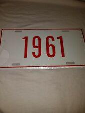 1961 vanity license plate RED