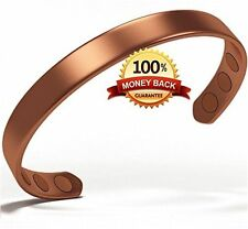 Pure Copper Magnetic Bracelet Arthritis Pain Healing Relief for Men or Women